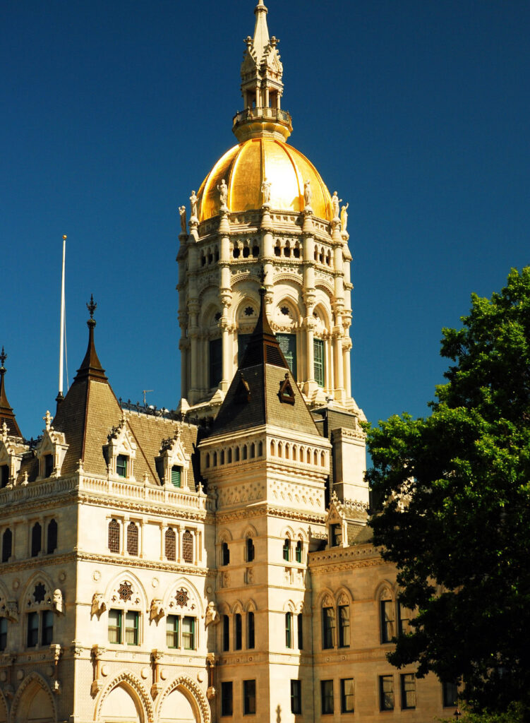 The Capitol Building in Hartford, Connecticut